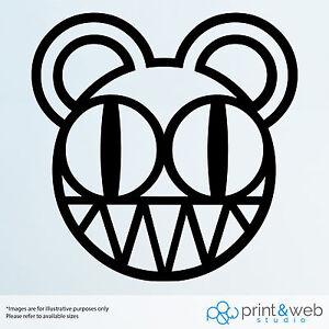 Radiohead Bear Decal Sticker Bedroom Vinyl Art Music Bike Car Scooter Laptop