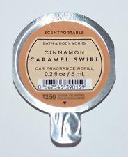 1 Bath Body Works Cinnamon Caramel Swirl Scentportable Fragrance Refill Disc Car