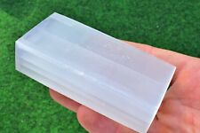 Selenite Crystal Charging Cleansing Plate/Bar Extra Strong Wand Angel Skull UK✔
