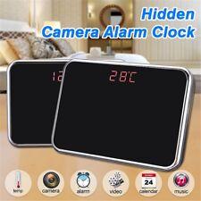 32GB HD Alarm Clock Hidden Spy Camera Mirror Clock DVR Cam+ Remote Control