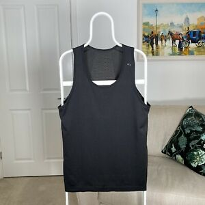 Mens LULULEMON Mesh Running Gym Training Sports Tank Vest Singlet - Black -Large
