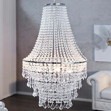 Große XL Design Hängelampe ROYAL Kristall Strass Kronleuchter Lampe Hängeleuchte