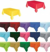 Plastic TABLECOVERS Table Cloth Cover Party Catering Events Tableware 11 COLOURS