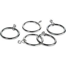 20 x Metal Curtain Rings Stainless Steel Use With Pole Upto 32mm