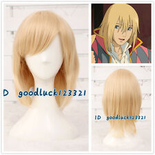 Howl's Moving Castle Howl light yellow blonde straight 40cm cosplay wig