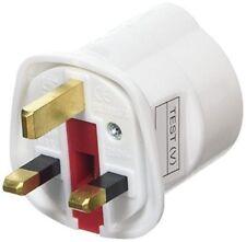 Amos Schuko Style Socket Euro 2-Pin to UK 3-Pin AC Mains Power Travel Adapter