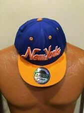 KB Ethos New York Snapback Baseball Cap Blue Orange