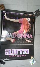 MADONNA confessions on a dance floor  ISRAELI PROMO POSTER W HEBREW