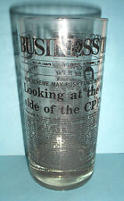 Collectible Vintage Business Times Glass Cup October 1 1976