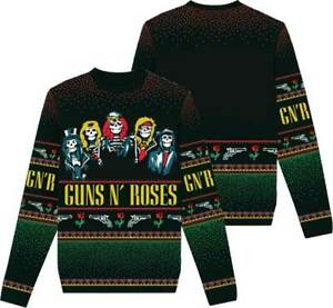 Guns N Roses GNR Heavy Metal Music Band Ugly Christmas Holiday Sweater 81216288