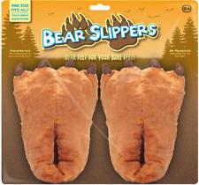 Unisex GIGANTIC Slippers New Fur Novelty Bear Slippers - One Size