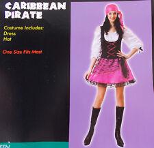 Caribbean Pirate Pink Black Child Teen Costume OSFM NIP