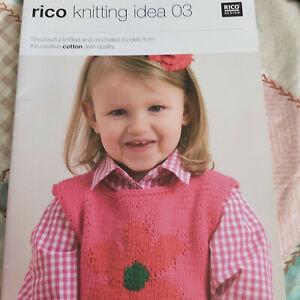 Knitting & Crochet book - Rico 03 - 19 designs using aran weight yarn