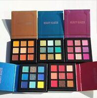 BEAUTY GLAZED Shimmer Matte Pigmented 9 Color Palette Long Lasting Eyeshadow