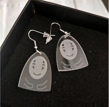 No-Face Man(顔無) in Anime Drop Earrings (Arrive 2-3 B. Days within Us)