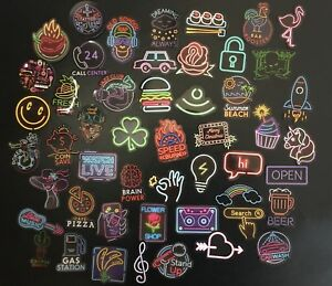 50 Retro Vintage Neon Disco 80's Cartoon Stickers For Laptop Phone Stickerbomb
