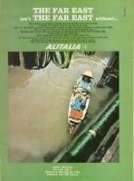 Original Advertising' Vintage American Alitalia Airlines Company Aerial Bangkok