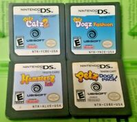 Nintendo DS Lite 2ds 3ds Game Lot Petz Dogz Catz 2 Hamsterz Life Fashion Pack