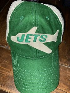NFL NY Jets Mitchell & Ness Snapback Hat Vintage Collection Wool Dad Hat Style