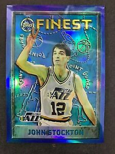 1995-96 Finest Refractors #15 Johns Stockton