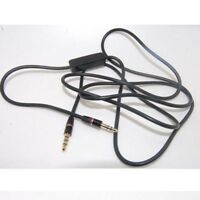 "3.5mm 1/8"" Audio Cable Cord w MIC For Panasonic RP-BTD10 K On-Ear Headphone XN"