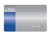 $100 Walmart Gift Card No Fees or Expiration Date No Cost to Reload in Stores