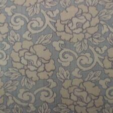 "LEE JOFA THAI LOTUS BLUE FLORAL 100% SILK MULTIUSE HIGH END FABRIC BY YARD 50""W"