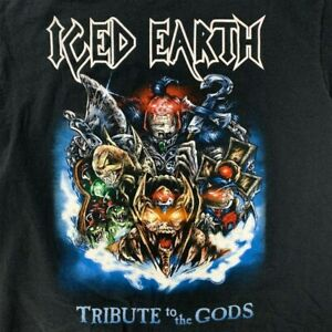Vintage Iced Earth Tribute To The Gods Album Tour Shirt y2k size XL