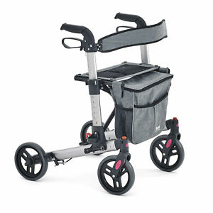 Tuni Spectra Height Adjustable Foldabe Lightweight Rollator with Carry Bag