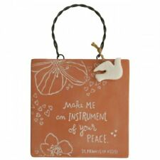 Make Me An Instrument of Your Peace~Engraved Clay Plaque~St Francis~SHIPS FREE!