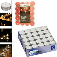 Candle Wax Tealight Unscented Candles Party Night Restaurant Wedding Tea Light