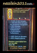 Diablo 3-Nintendo switch-damage ring - 450% magiefundbonus-mod-SC/HC