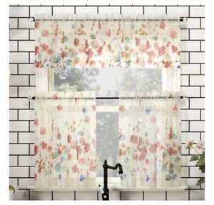 """Lichtenberg No. 918 54x24"""" Cafe Curtain Tiers - Rosalee Poppy"""