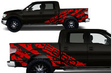 Vinyl Decal Graphics FORD SHREDS Wrap Kit fits 2009-2014 Ford F-150 Truck Dk Red