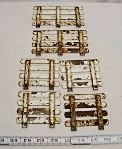 NYLINT HAPPY ACRES FARMS STAKE BED RAILS PRESSED STEEL TOY PARTS X6 IN WHITE