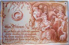 Beruf Friseur Friseurin Blechschild Schild gewölbt Metal Tin Sign 20 x 30 cm
