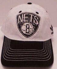Brooklyn Nets Cap Adidas Flat Brim Snapback Hat NBA - Size Small Adjustable Hat