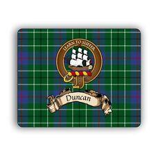 Duncan Scottish Clan Mousepad Tartan Crest Motto Computer Mouse Pad Mat