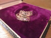 Feiner 925 Silber Ring Zirkonia Baguette Designer Funkelnd Retro Ausgefallen Top