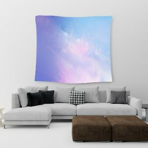 Large Wall Hanging Tapestry Pastel Galaxy Cotton Print Art Bedspread Throw Cover