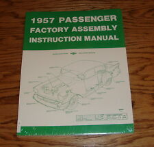 1957 Chevrolet Passenger Car Factory Assembly Instruction Manual 57 Chevy