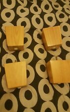 Wooden sofa chair or footstool legs X 4