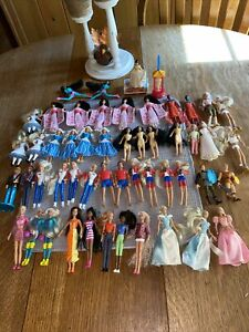Vintage mcdonalds barbie toys And Disney Figures Lot 53 Pieces