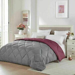 1800 Count Ultra Soft Light Weight Reversible Microfiber Bedding Comforter Gray