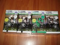Lot of 4 NEW Gemmy Whirl-A-Motion LED Projection Ghost  Skulls Witches Halloween