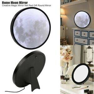 LED Moon Mirror Light Color USB Charging Night Light Makeup Table Wall Mirror GO