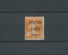 PRÉOBLITÉRÉS - 1921 YT 29 - TIMBRE NEUF* charnière