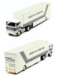 """1/43 Ixo Volvo F88 """"Martini Racing Transporter"""" Neuf Boite Livraison Domicile"""