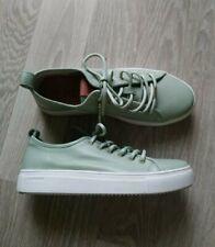 Ungetragene Blackstone Sneaker 38 Leder grün türkis Damen Schuhe