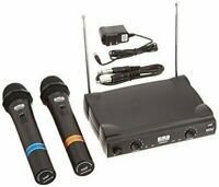 EMB VHF EBM50A Professional Dual Wireless Microphone System